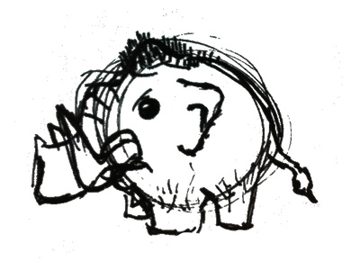 mini mammoth first sketch