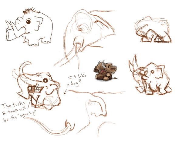 Design sketches for Mini Mammoth
