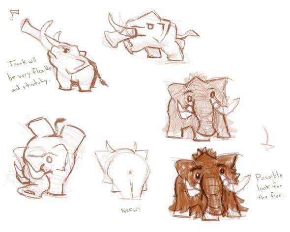 Some more design sketches for Mini Mammoth
