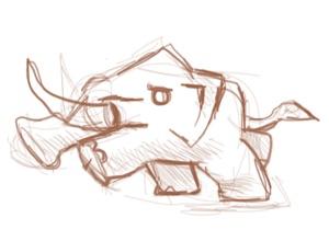mini mammoth walking